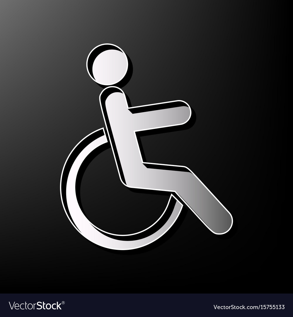 Disabled sign gray 3d