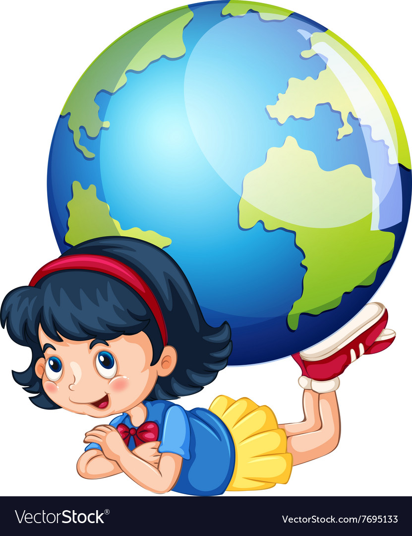 Little girl and the world