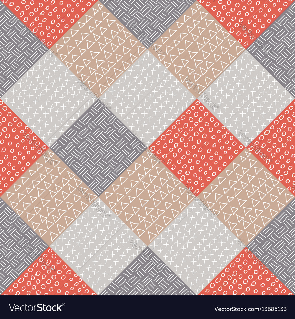 Patchwork seamless pattern