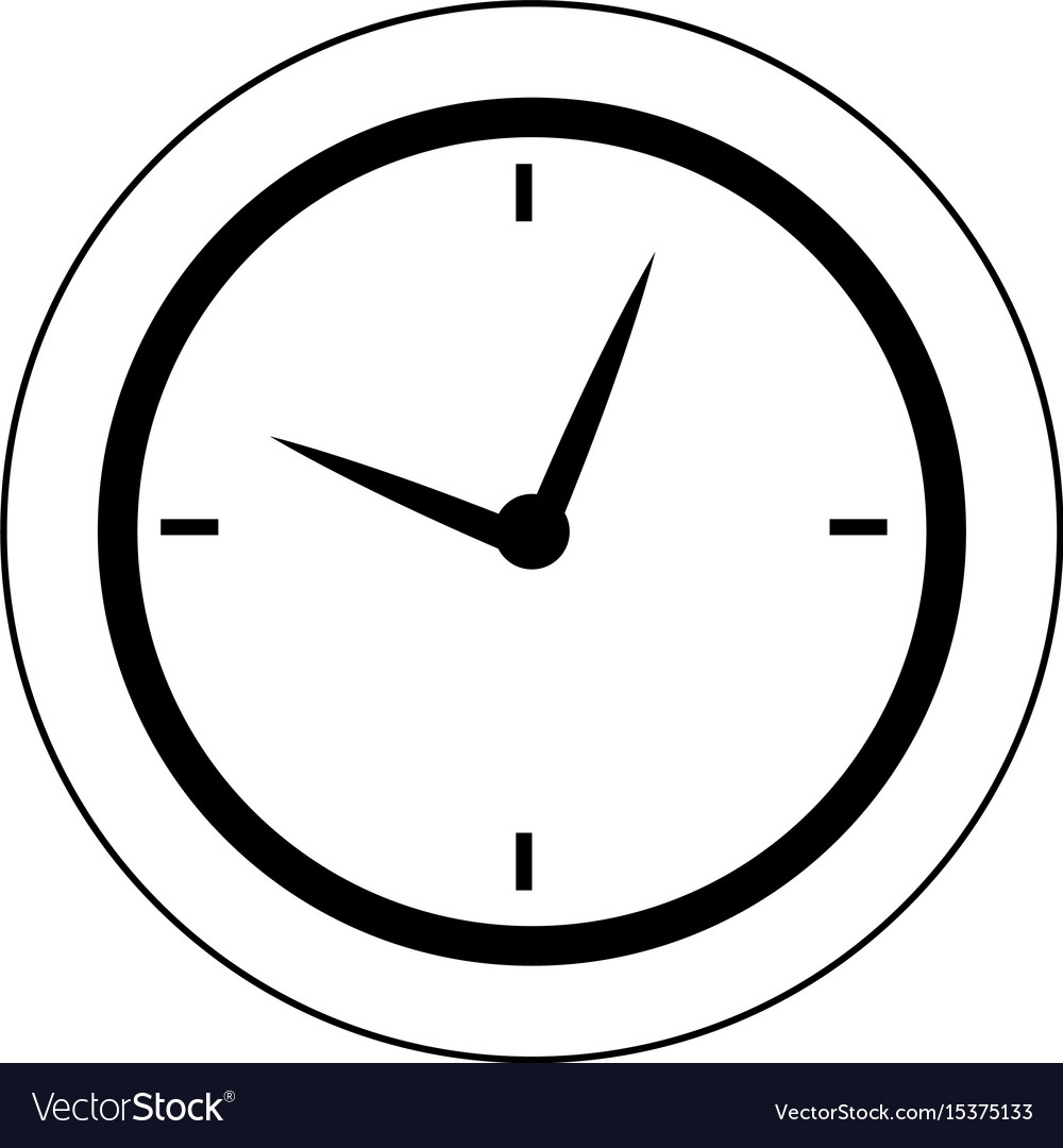 round clock time hour business object icon vector image rh vectorstock com clock icon vector free clock icon vector png