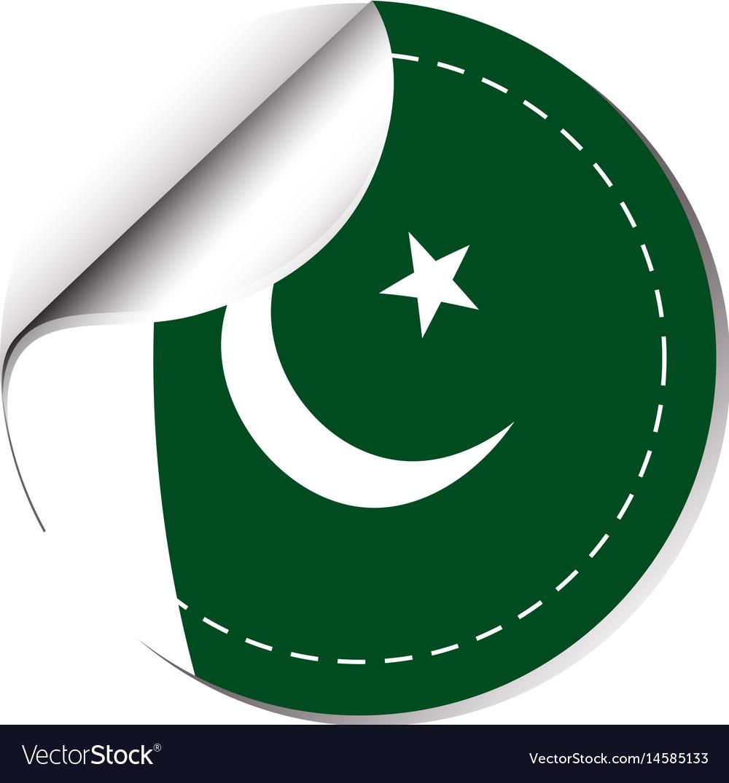 Pakistan flag label sticker vector images 44