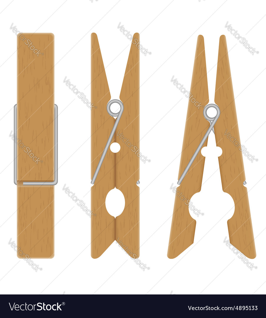 wooden clothespin royalty free vector image vectorstock