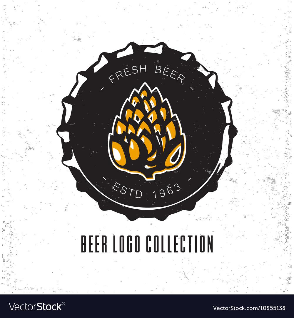 Creative logo design with beer bottle cap