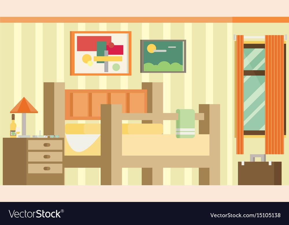 Flat design of room interior vector image