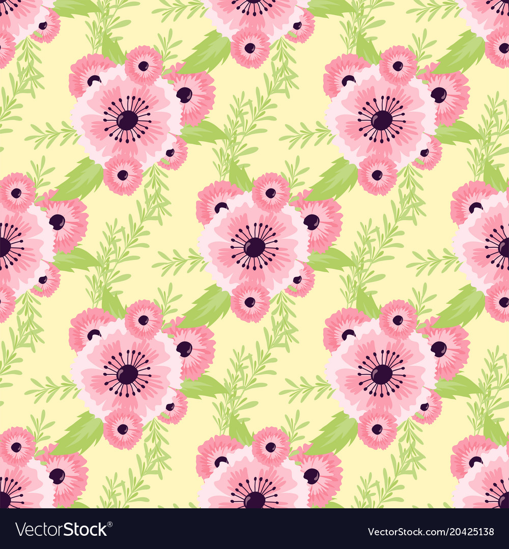 Nature flower seamless pattern