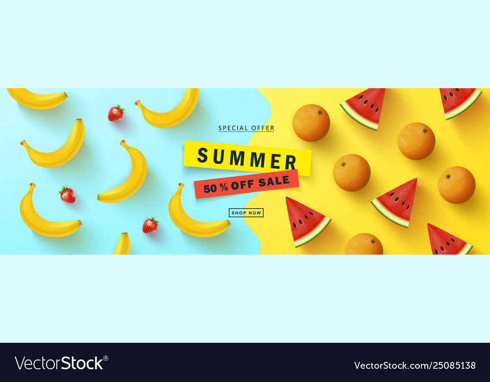 Summer sale bannerbeautiful background
