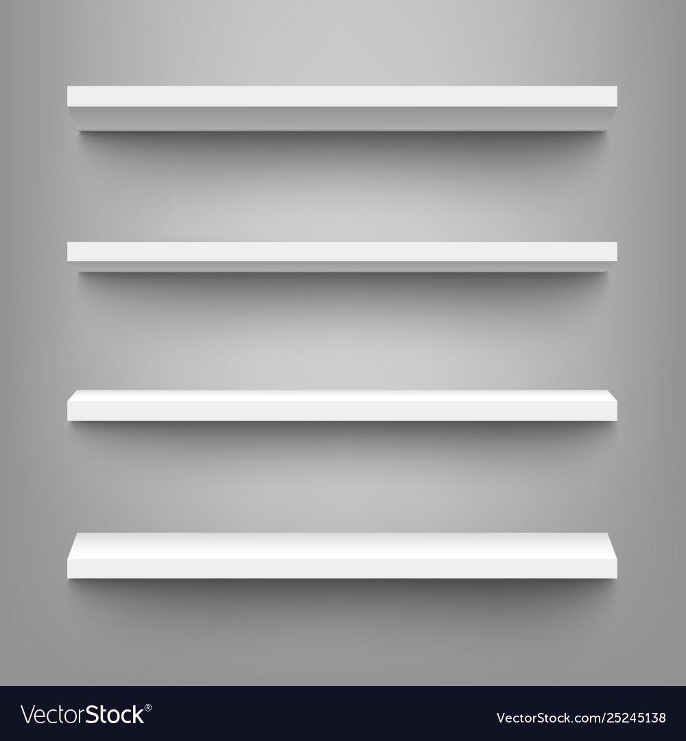 White shelves for product display mockup