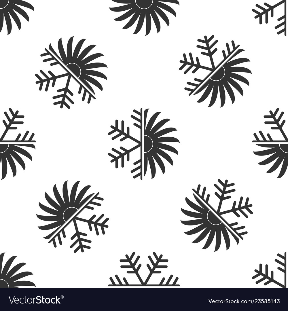 Air conditioner icon seamless pattern
