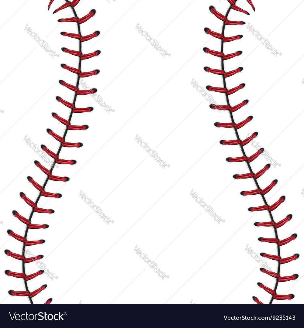 Baseball lace background