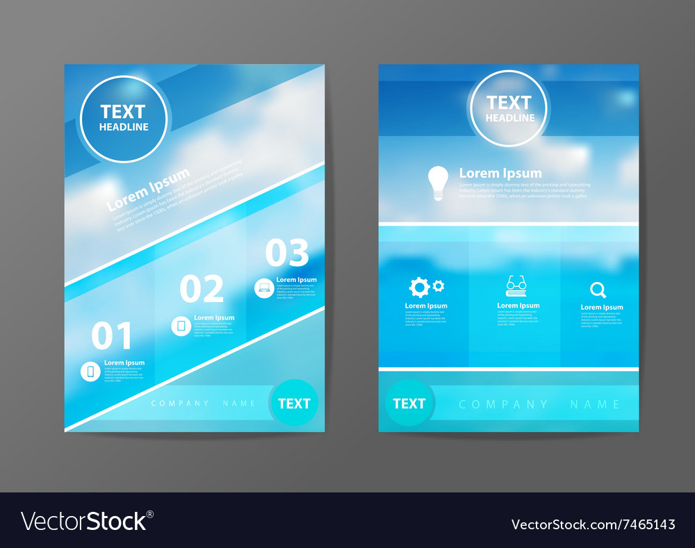 Business brochure flyer design layout template