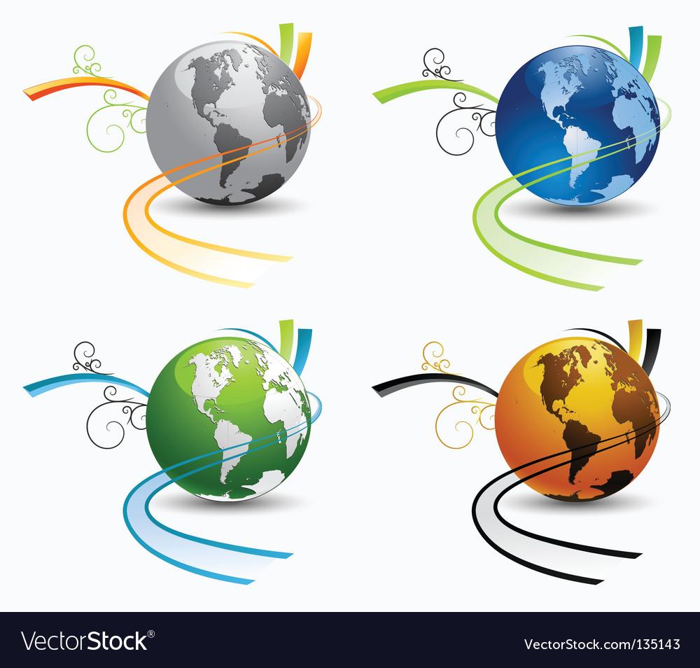 Globe environmental icons