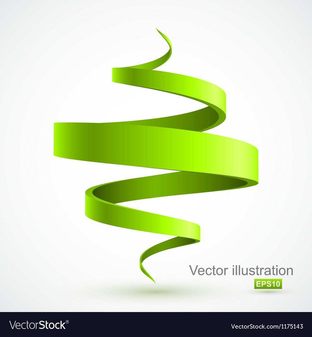 Green spiral 3D