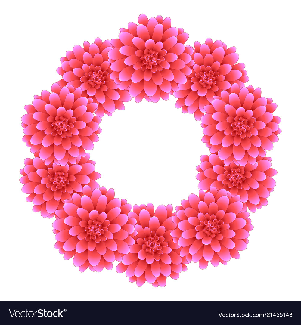 Pink dahlia wreath style 2