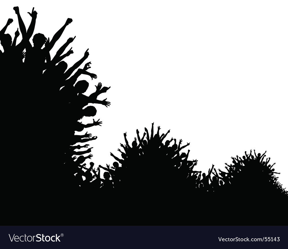 Wave crowd vector image