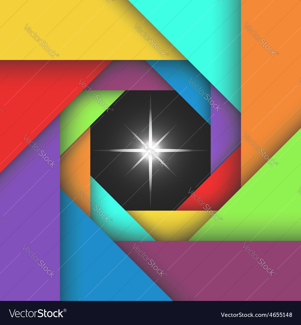 Colorful camera abstract aperture photo template