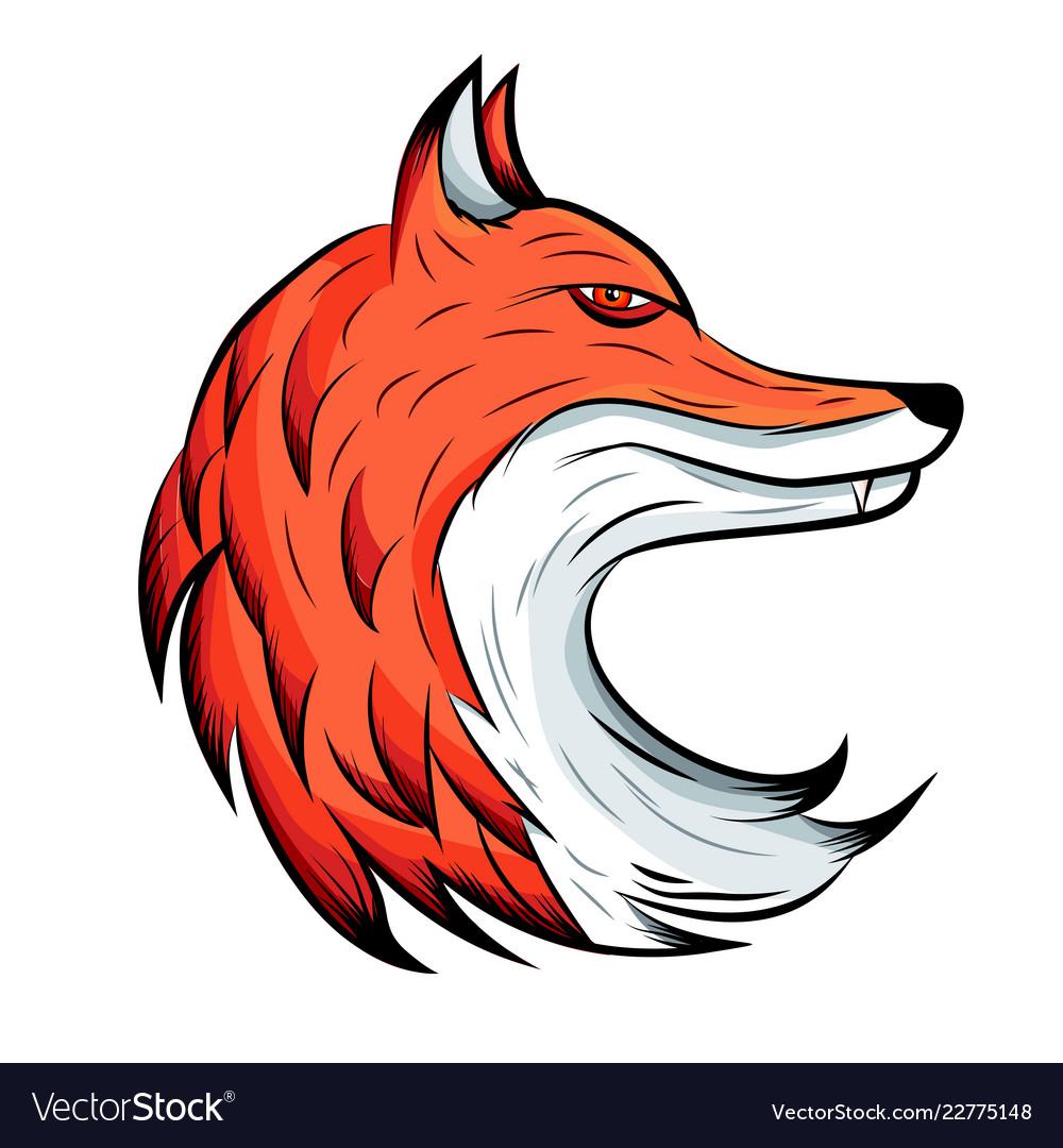 Fox emblem animal logo