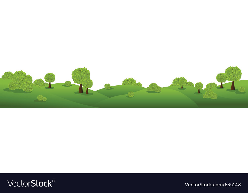 Landscape panorama vector image