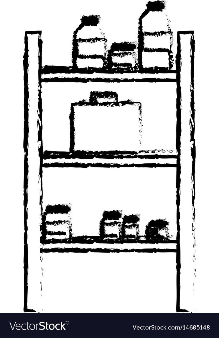 Pharmacy medicine bottle kit healthcare sketch vector image