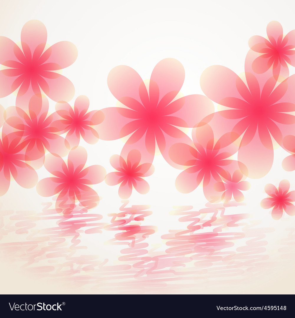Pink Color Flower Royalty Free Vector Image Vectorstock