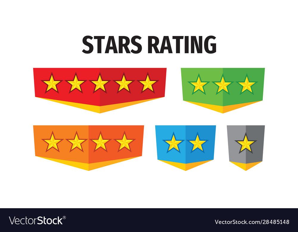 Stars rating - concept badges design