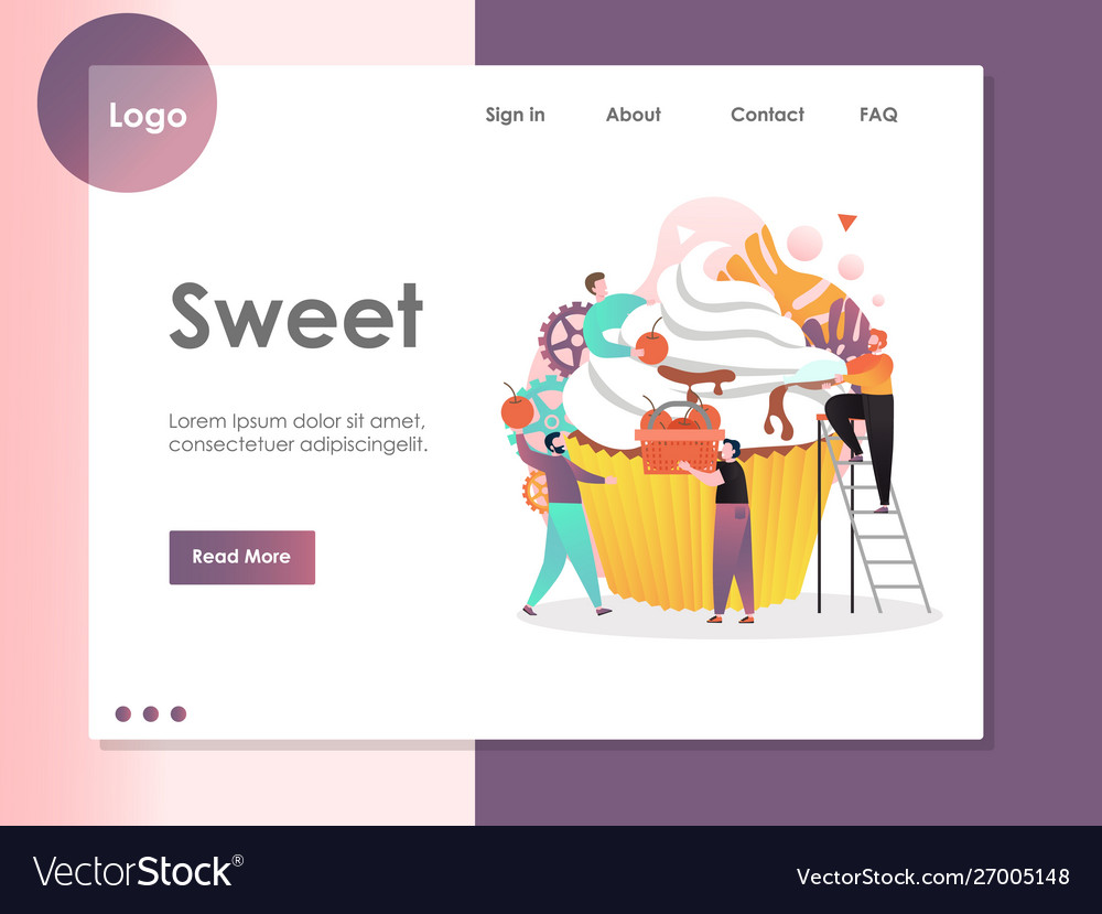 Sweet website landing page design template