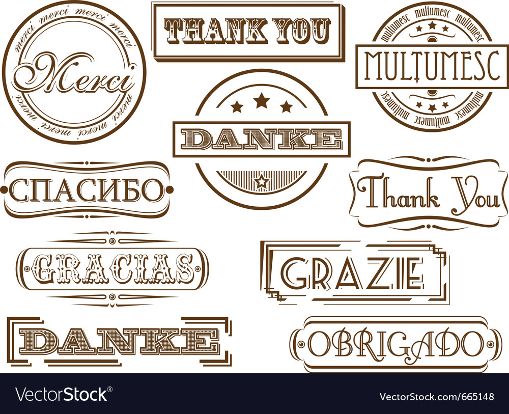 thank you stamps royalty free vector image vectorstock