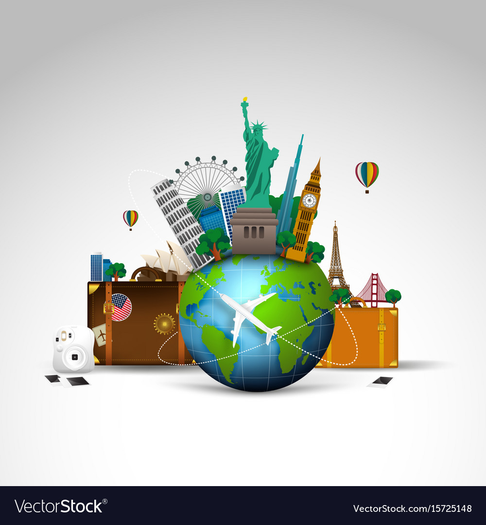 Travel of the world background