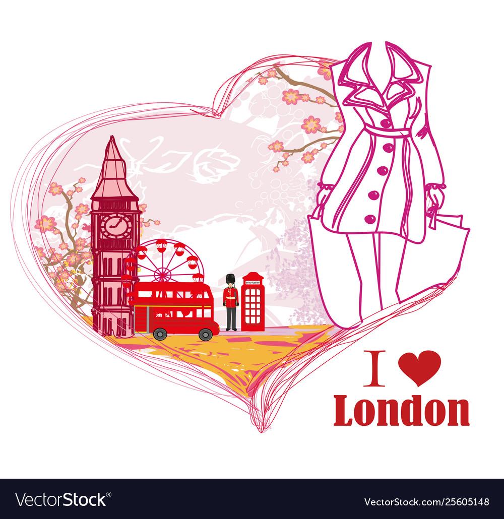 Woman shopping in london card