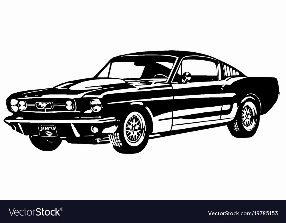 65 Mustang Fastback Vector Image