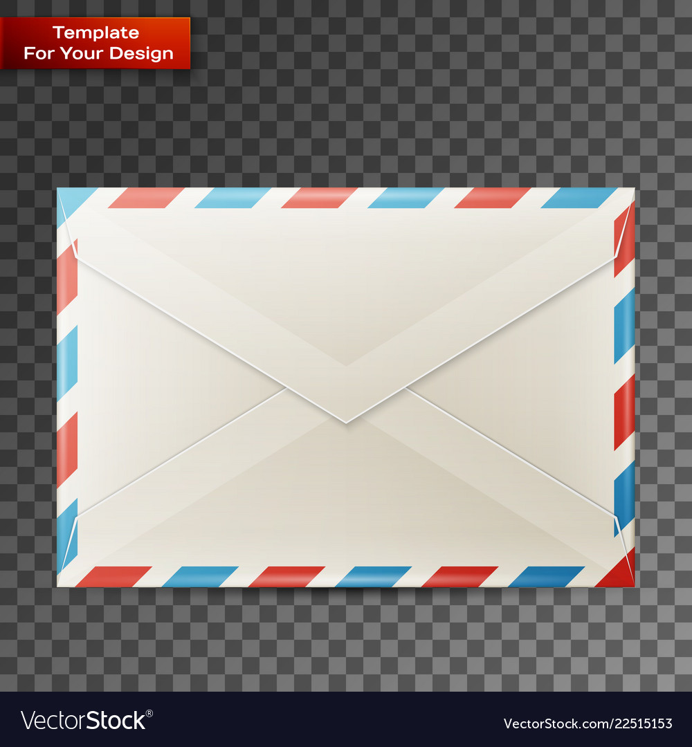 Blank envelope isolated on transparent background