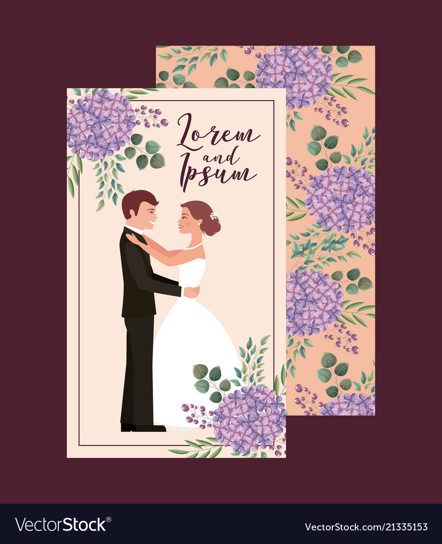 Couple wedding card