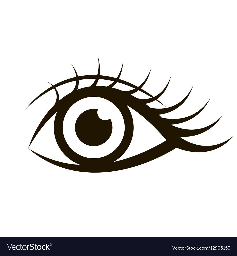 Female eye isolated on white vector image