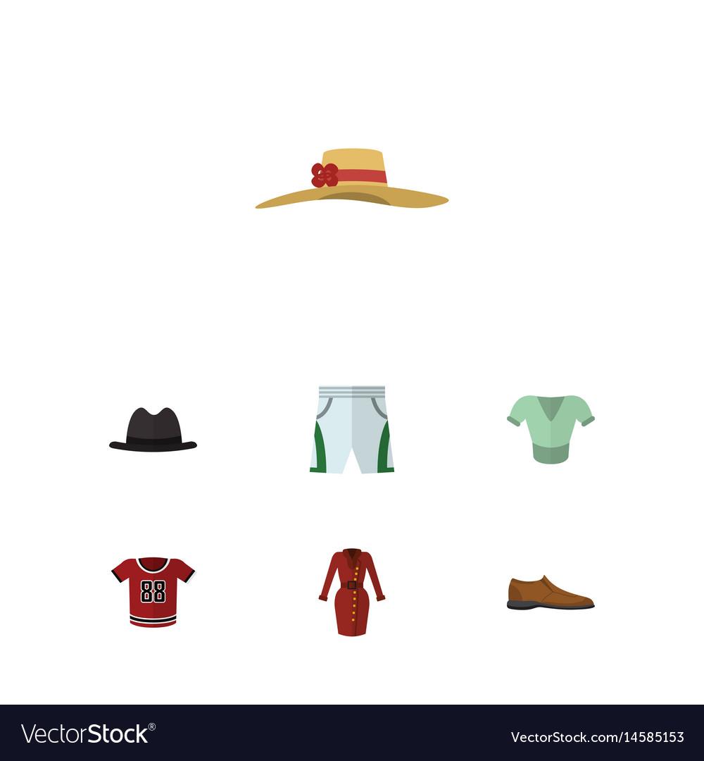 Flat clothes set of casual elegant headgear