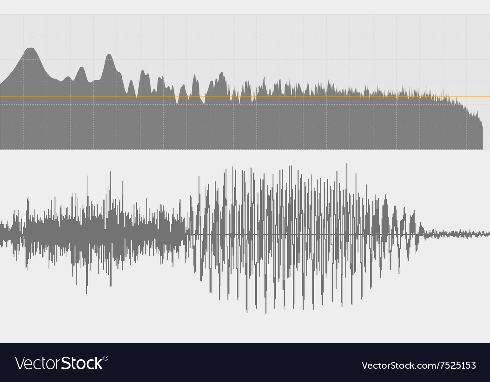 Gray sound waves on a white background