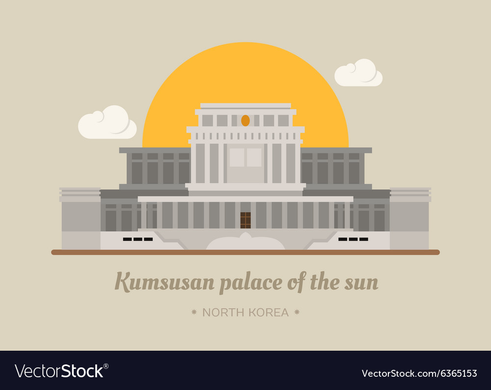 Kumsusan palace of the sun North Korea eps10 v
