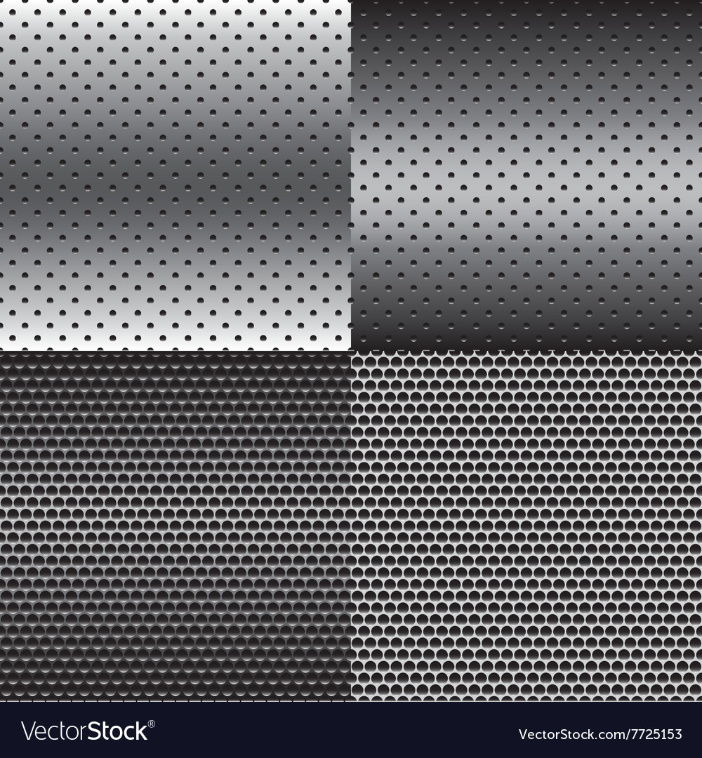 Metal texture background set