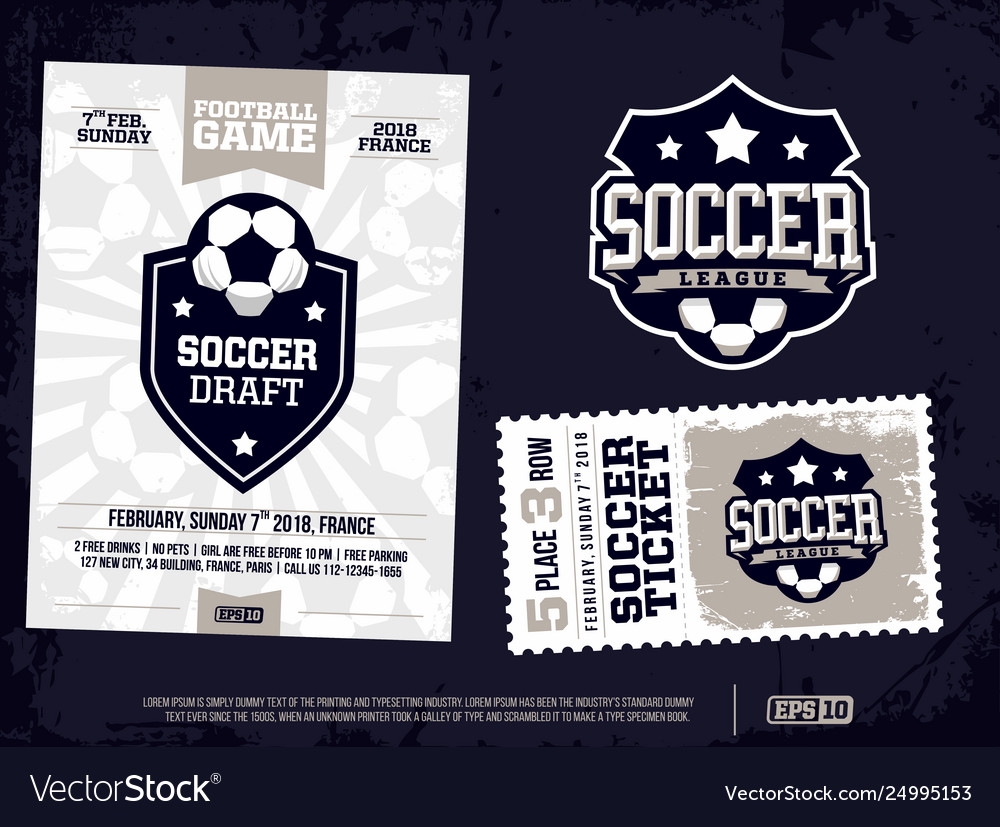 Modern professional sports design poster and