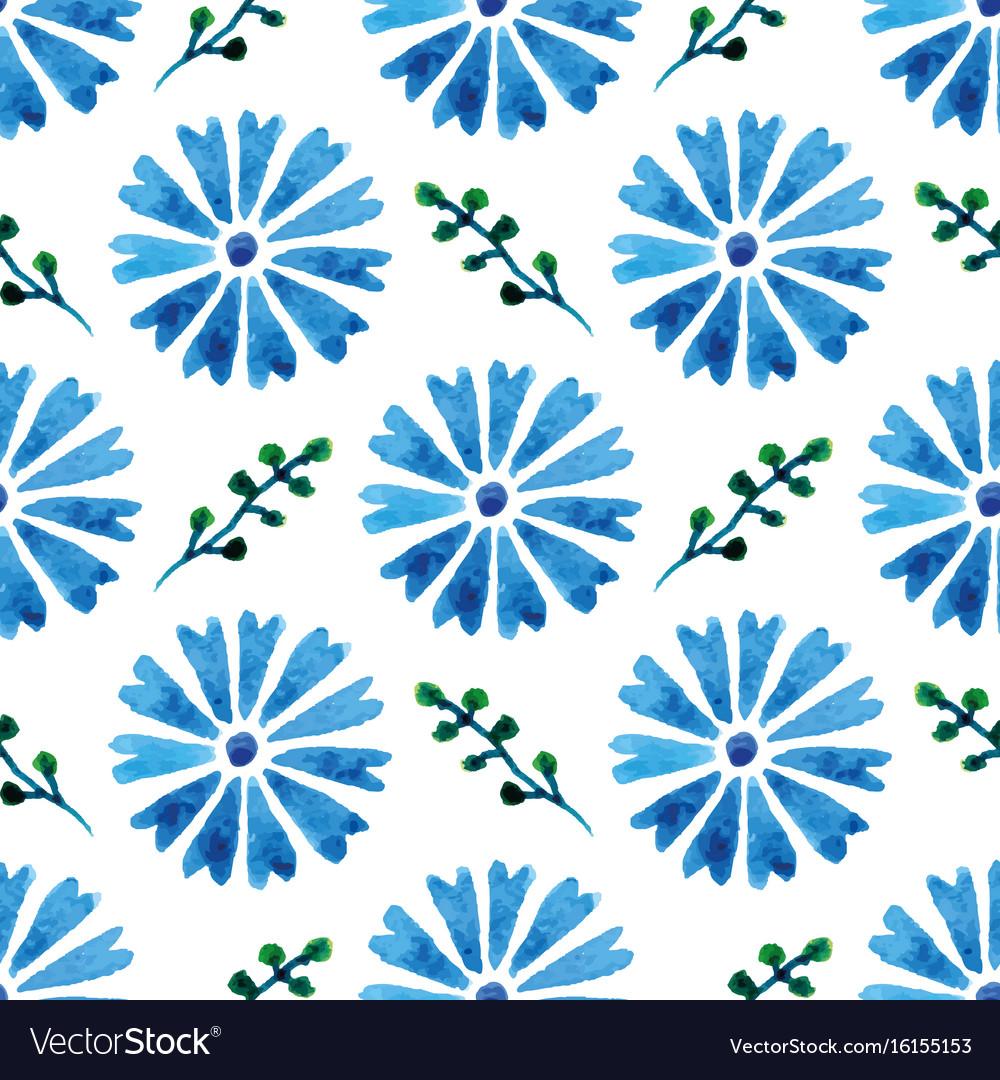 Seamless pattern with beautiful watercolor