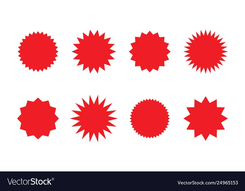 Set red sunburst badges best for sale