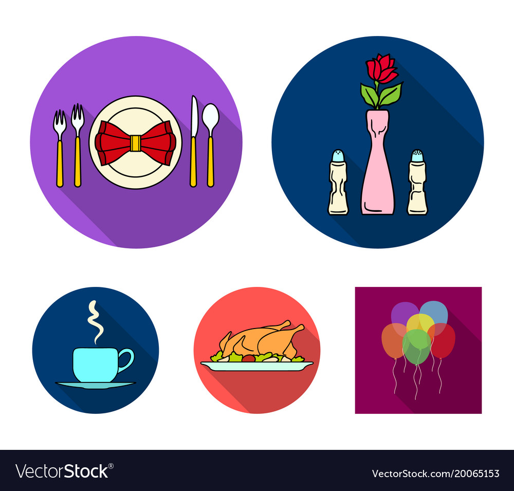 Vase with a flower table setting fried chicken