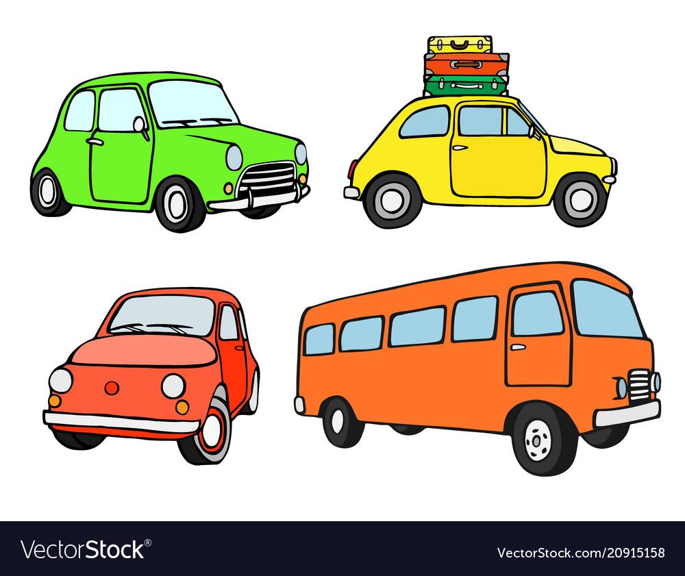Antique vehicle colorful