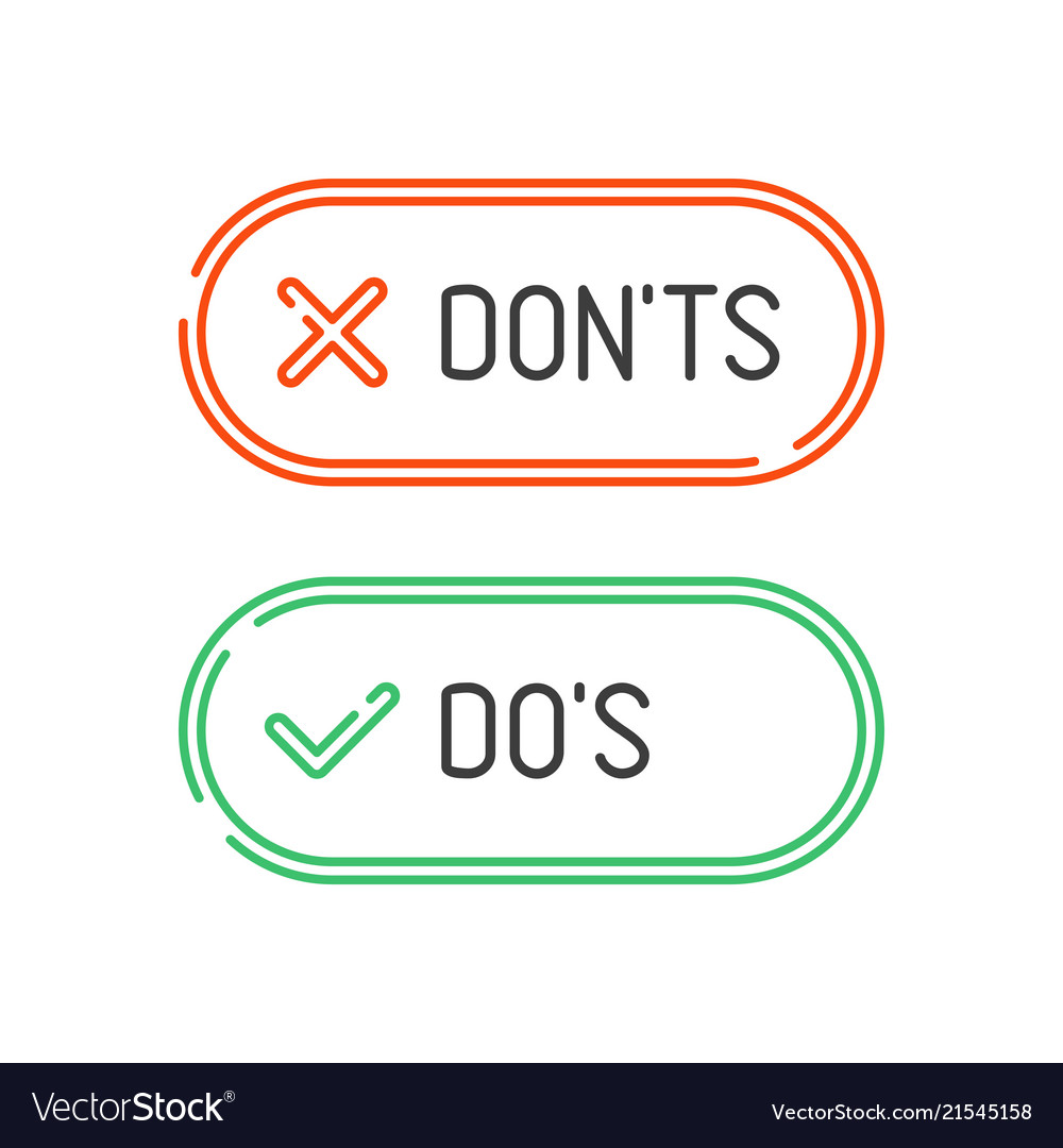 Do and dont check marks