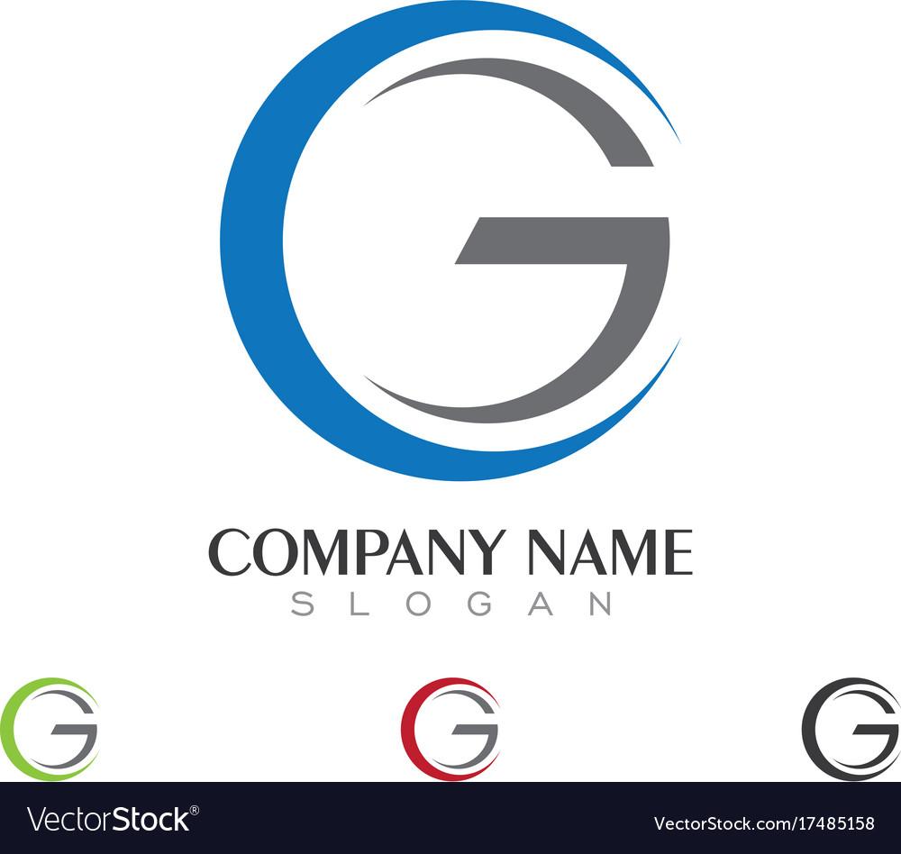 G letter logo business template