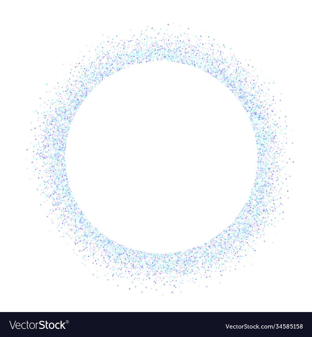 Iridescent glitter round frame holographic