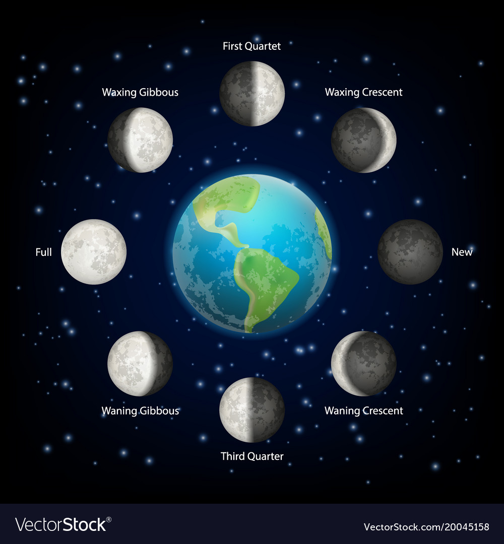 Moon phases realistic