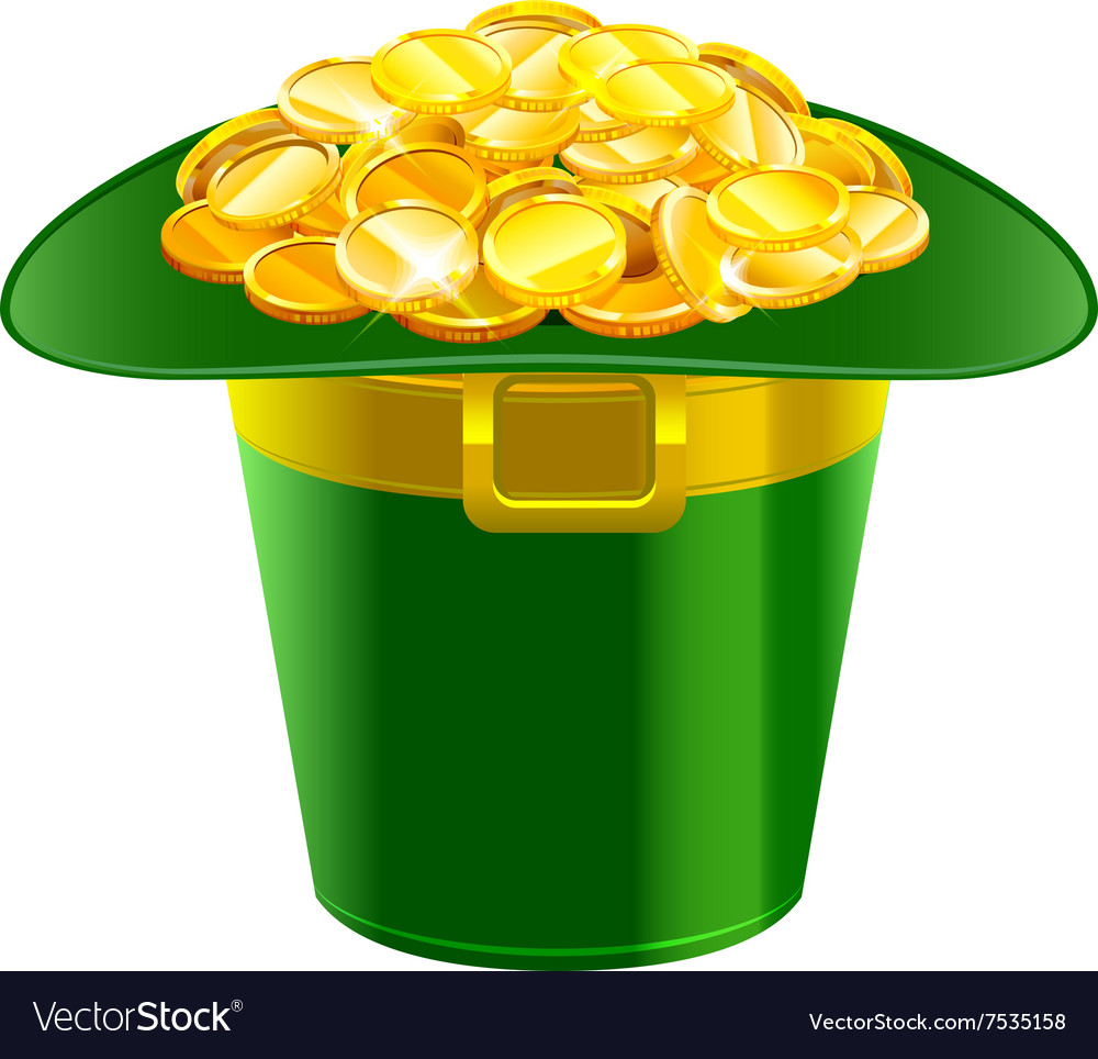 Patrick hat full of gold coins Patrick green hat