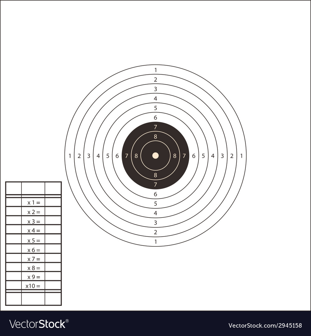 shooting range target template royalty free vector image