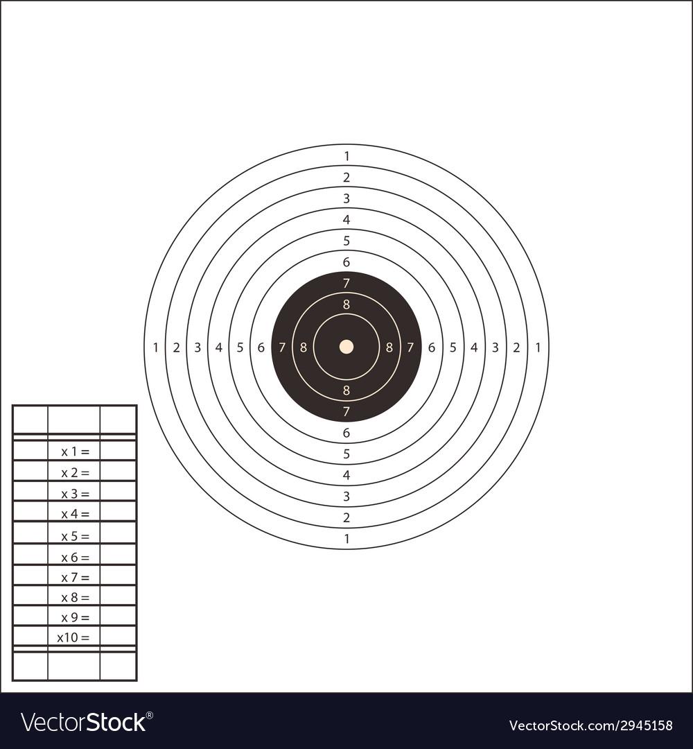 Shooting Range Target Template vector image
