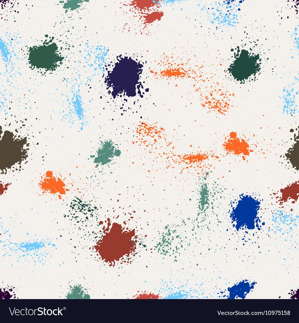 Splashes of color ink vector image