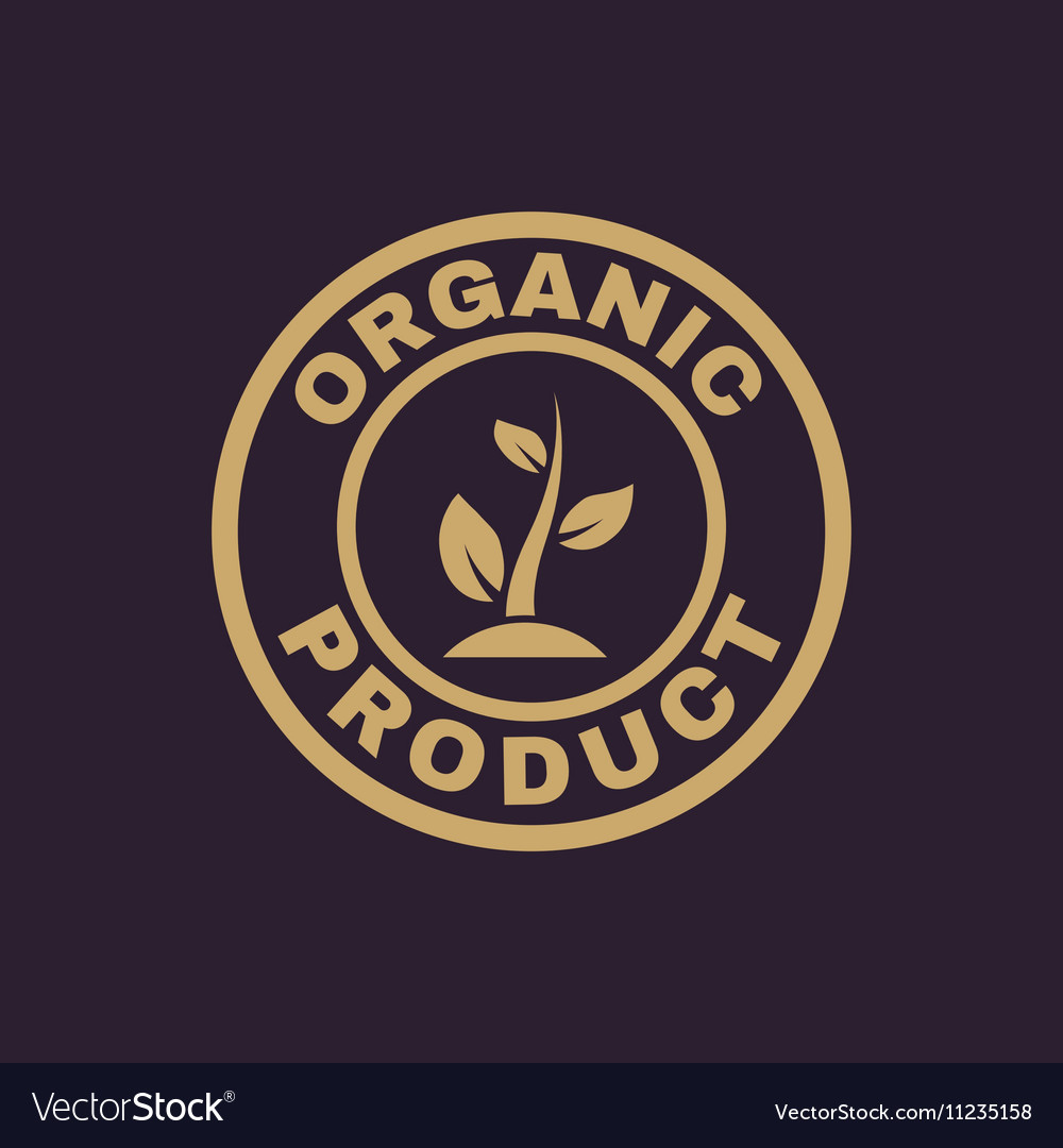 The organic product icon Eco and bio ecology